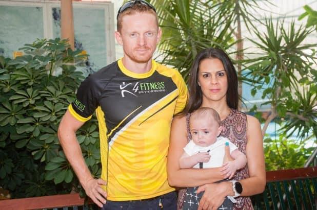 קוני דן, אשתו ובנו (צילום: דורון גולן)