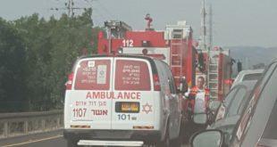 פקק בעקבות תאונה בכביש 89 השבוע צילום: מירב זגה