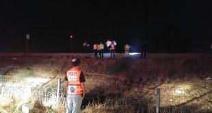 זירת התאונה. נתניה צילום: דוברות איחוד והצלה
