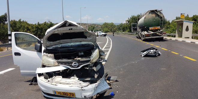 זירת התאונה בכביש 70. צילום אדריאן הרבשטיין