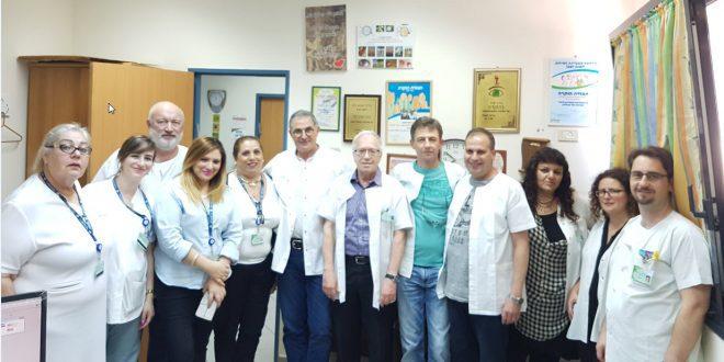 צוות מחלקת בריאות העין בזבולון (צילום: דוברות כללית)