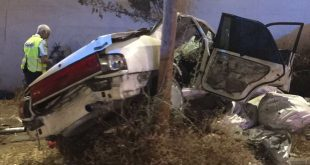 הרכב לאחר התאונה (צילום דוברות המשטרה)