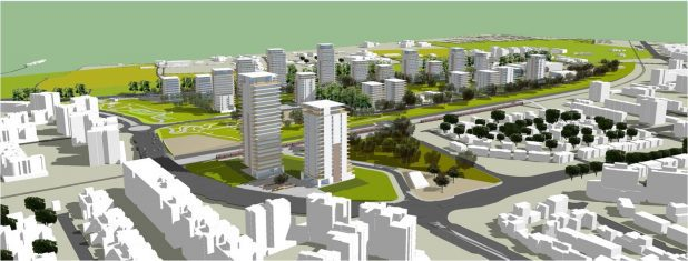 פיתוח העיר. השכונה הדרומית בעכו  (הדמיה)