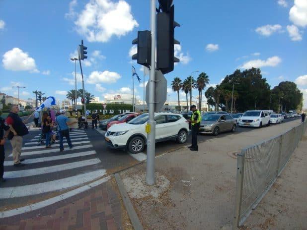 הפגנת הנכים צילום: משטרת התנועה