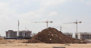 הבנייה בחוף אכזיב (צילום: אדריאן הרבשטיין)
