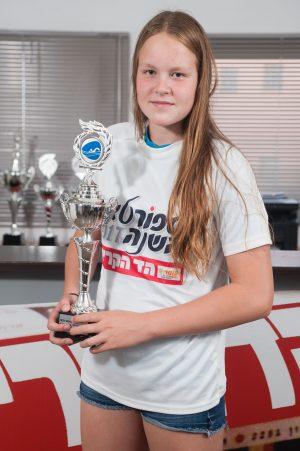שבע מדליות, שיא גילאים וגביע מ'הד הקריות'. אנסטסטיה גורבנקו (צילום: דורון גולן)