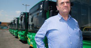 השקת אוטובוסים חשמליים של אגד. בתמונה: שר התחבורה ישראל כץ. צילום: דורון גולן