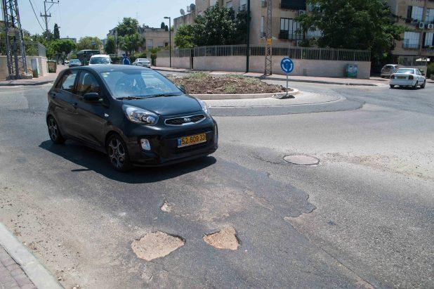 הכיכר בצומת חנקין-סוקולוב (צילום: דורון גולן)