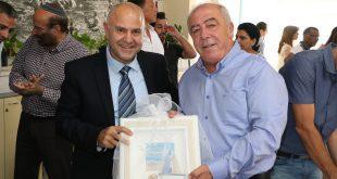 דוד אבן צור ושמואל אבואב. צילום: דוברות העירייה