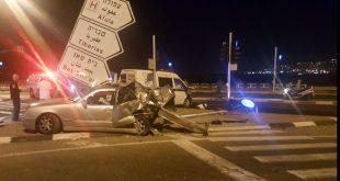 התאונה בכניסה לעפולה (צילום איחוד הצלה)