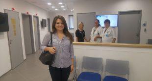 מנהריה לקרית מוצקין. דיאנה גבע, המטופלת הראשונה במרפאה (צילום: מירב אובנטל)