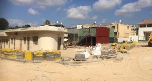 """""""לא מקובל להציב מצלמות באתר בנייה"""". מתחם השוק הישן השבוע (צילום: נירית שפאץ)"""