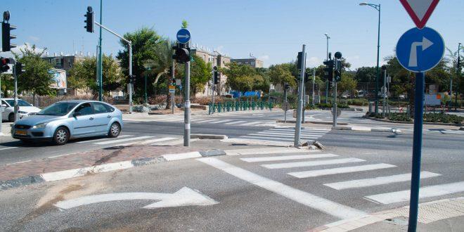 צומת שדרות ירושלים וז'בוטינסקי, קרית ים. צילום: דורון גולן