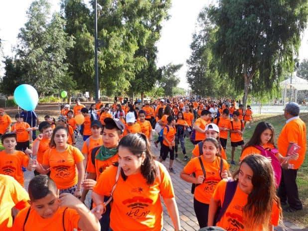 משתתפים בצעדת בית שאן (צילום דוברות העירייה)