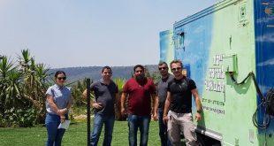צוות המשרד להגנת הסביבה וצוות מחלקת תברואה של הרשות
