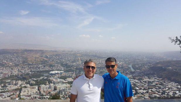 אבי לוי וגאורגי צ'יחאדזה בטיביליסי (צילום עצמי)
