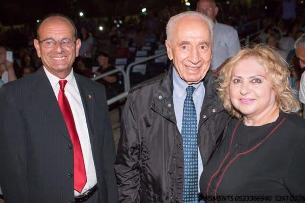 רינה גרינברג ועדי אלדר עם הנשיא