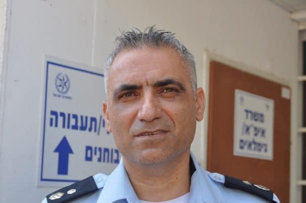 """מפקד תחנת חדרה. סנ""""צ יגאל בן"""
