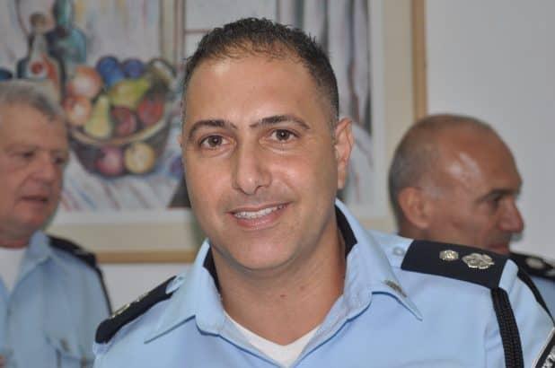 """מפקד תחנת אום אל פאחם. סנ""""צ ניר יונה צילום משטרת ישראל"""