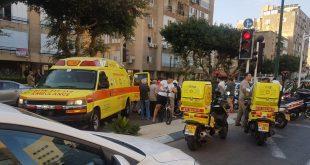 """זירת התאונה בנתניה (צילום: מד""""א)"""