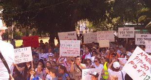 העצרת בגן טיול לפני כחודש (צילום: מועצת זכרון יעקב)