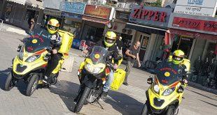 יחידת האופנועים בקרית אתא . צילום: דוברות מדא כרמל