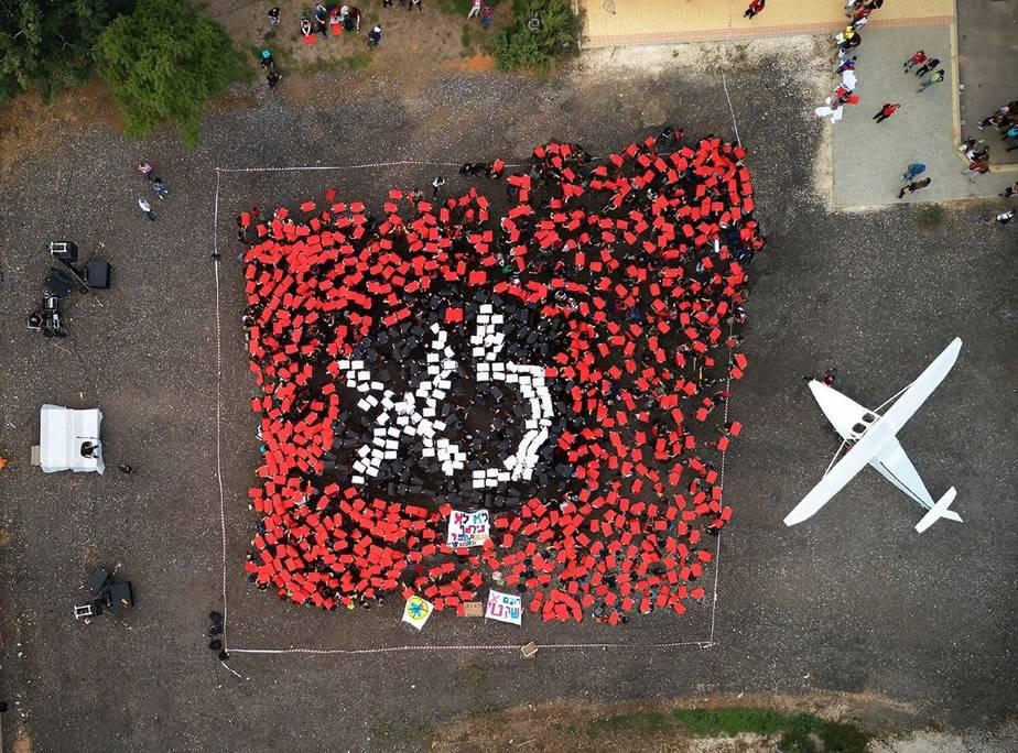 מחאת שדה התעופה (צילום: שי גיל)