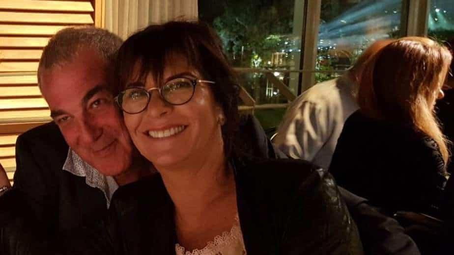 רונית ואבישי בחתונה של דן שקרק (צילום: עצמי)
