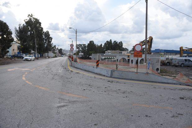 עבודות פיתוח ברחוב התעשייה. צילום: דוברות העירייה