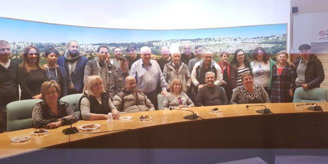 סוחרי רסקו אצל ראש העיר (צילום עצמי)