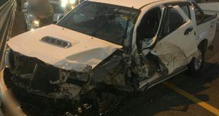 התאונה ליד ציפורי (צילום דוברות המשטרה)