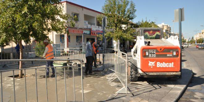עבודות תשתית במרכז קרית אתא. צילום: דוברות העירייה