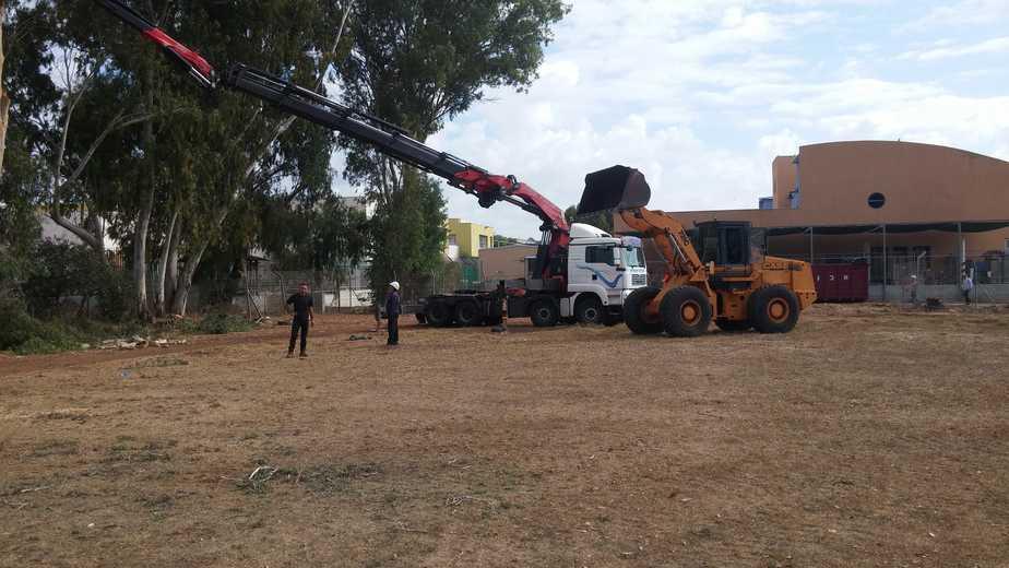 עבודות הבנייה השבוע (צילום: מועצה אזורית מנשה)
