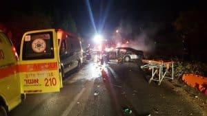 זירת התאונה בכרמיאל. צילום;