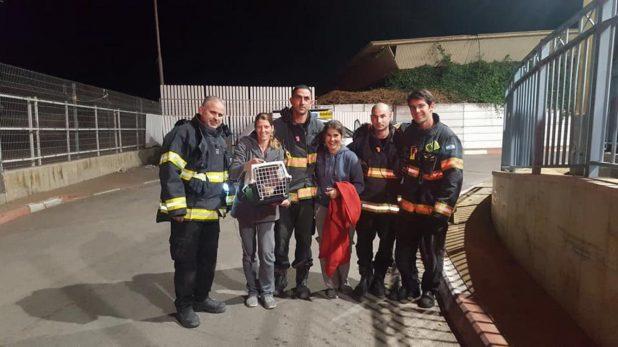 הצוות לאחר החילוץ