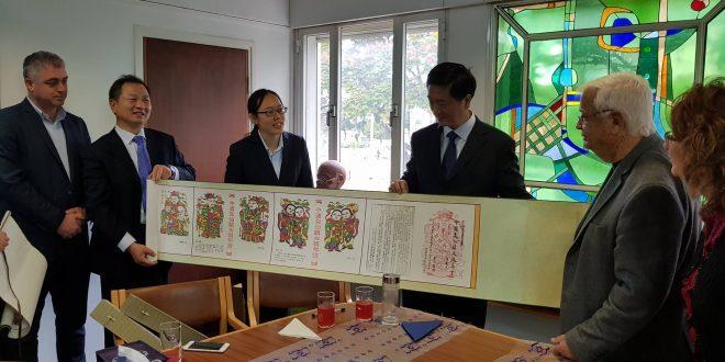 משלחת מסין בקרית מוצקין. צילום: דוברות העירייה
