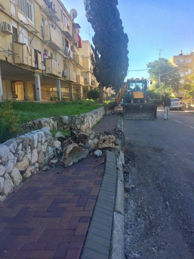 עבודות ברחוב פלמח. צילום: דוברות העירייה