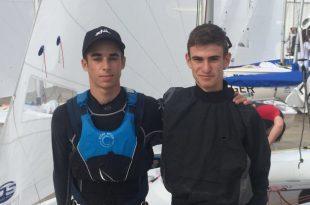 יואב כהן ומאור בן הרוש (צילום: איגוד השייט)