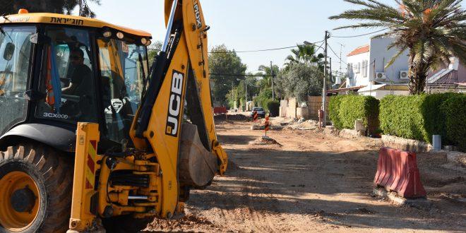 נווה אברהם, עבודות תשתית. צילום: דוברות העירייה