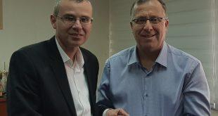 אלי דוקורסקי ויריב לוין. צילום: דוברות העירייה