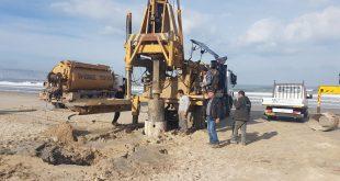 עבודות להקמת חוף הרחצה. צילום: דוברות העירייה