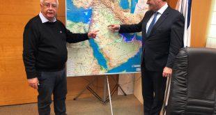 ישראל כץ וחיים צורי. צילום: דוברות העירייה