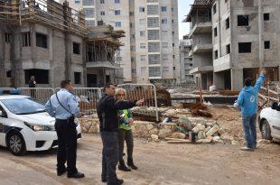 מבצע אכיפה באתרי בנייה. צילום: דוברות העירייה