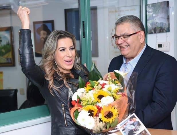 ראש העיר אלי ברדה והזמרת ריקי בן ארי