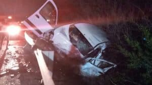 תאונת דרכים כביש 89 הערב צילןם דוברות המשטרה
