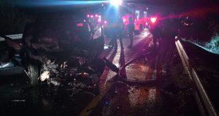 שני הרוגים במקום. כביש 89 (צילום דוברות המשטרה