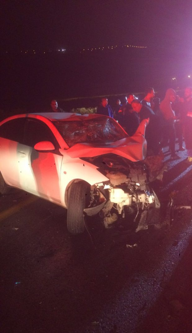 ארבעה פצועים. תאונה בכרמיאל (צילום: צוות חיאן)