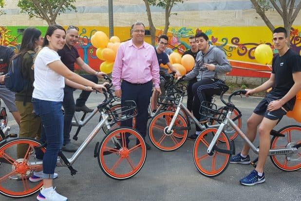 אופניים שיתופיים בקרית ביאליק. צילום: דוברות העירייה