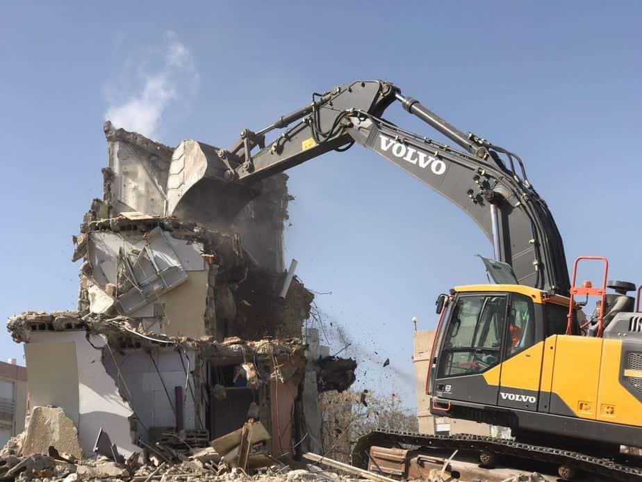 הריסת אנדריוס 1_פרויקט מגדלי סביון סיטי נתניה _ אפריקה ישראל מגורים_צילום רמי חכם