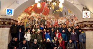 התלמידים במהלך הביקור במוסקבה